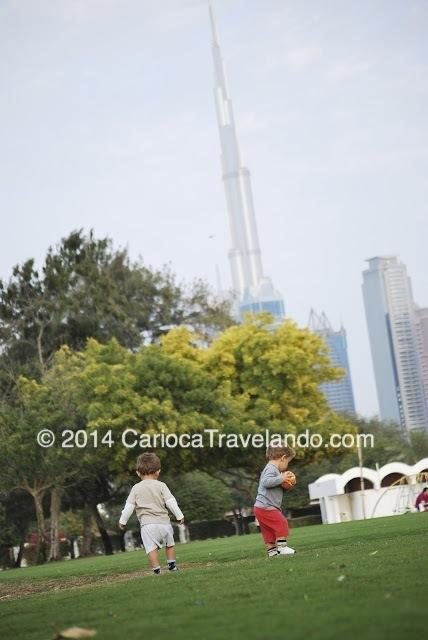 Al Safa Park - Burj Khalifa ao fundo