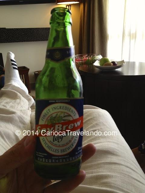 Essa cerveja é made in Seychelles.