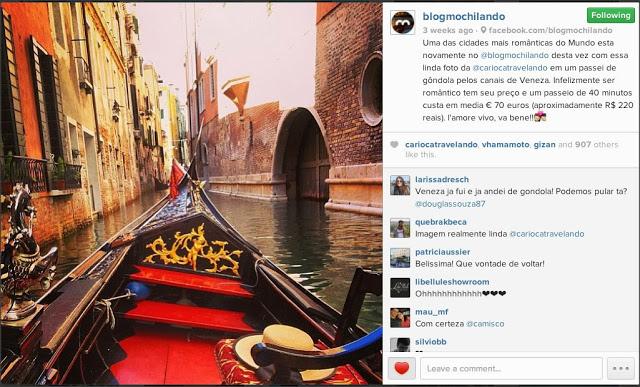 Carioca Travelando no Instagram – Veneza