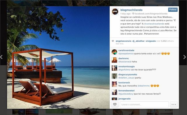 Destaque no Instagram: Maldivas