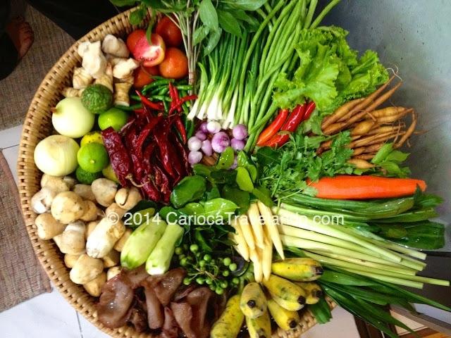 Nossa cesta de verduras, legumes, pimentas... tudo fresquinho!