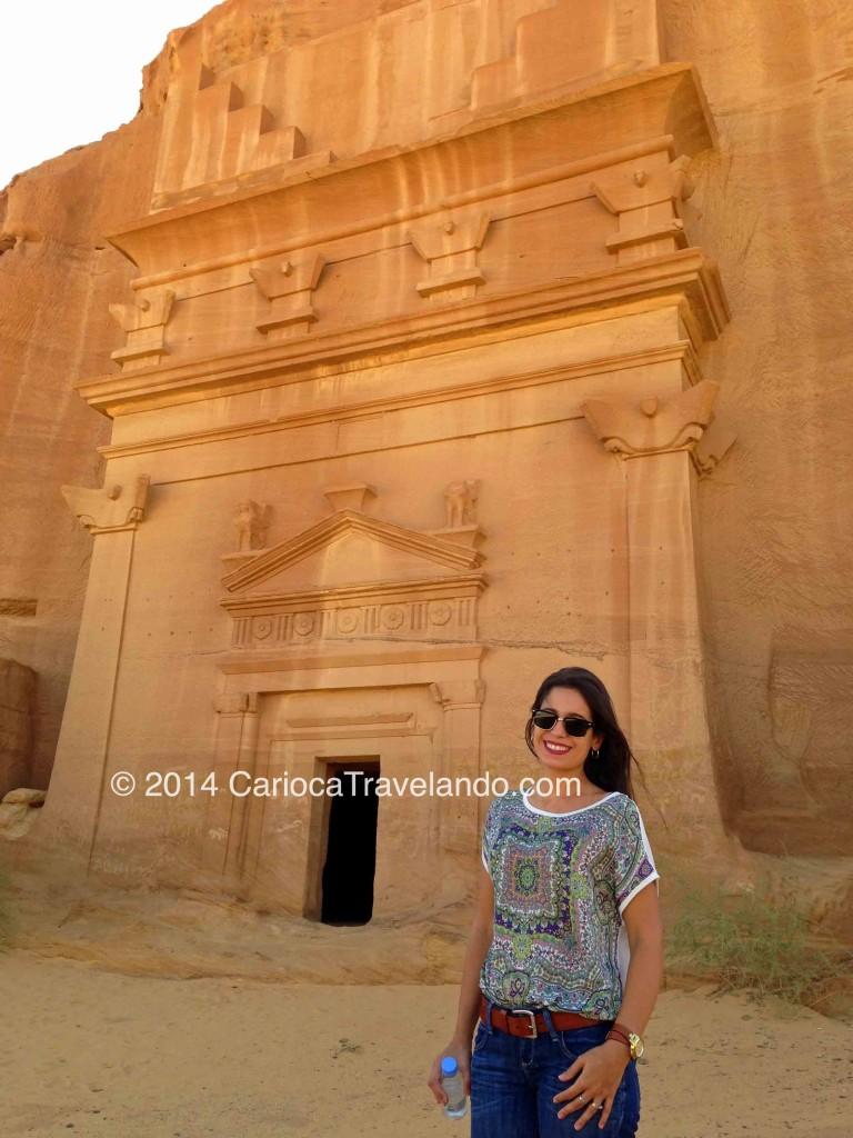 Conhecida como Palácio Al Farid - uma das tumbas mais famosas de Mada'in Saleh. Repara a perfeição!