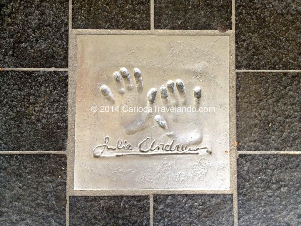 Julie Andrews na Calçada da Fame em Cannes