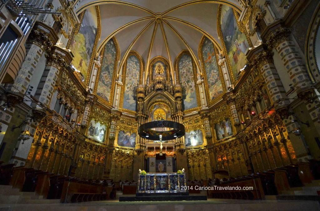 Interior do Santuário de Montserrat