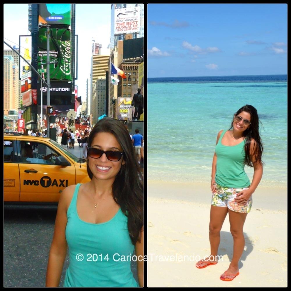 A roupa é a mesma mas o cenário… quanta diferença!