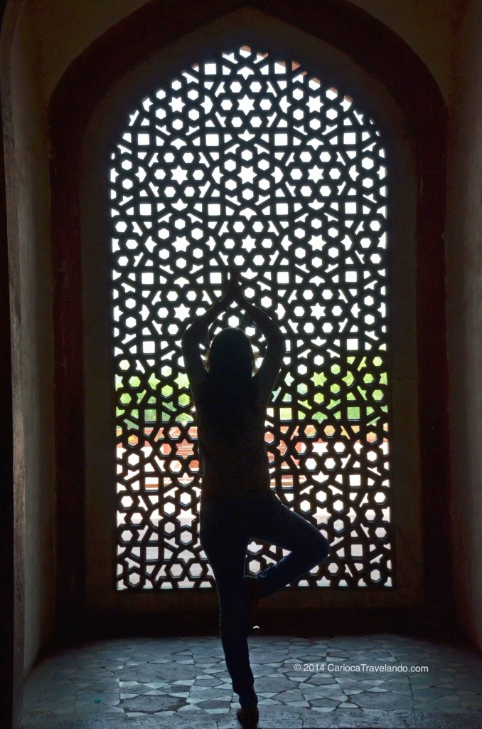 No interior da Tumba de Humayun