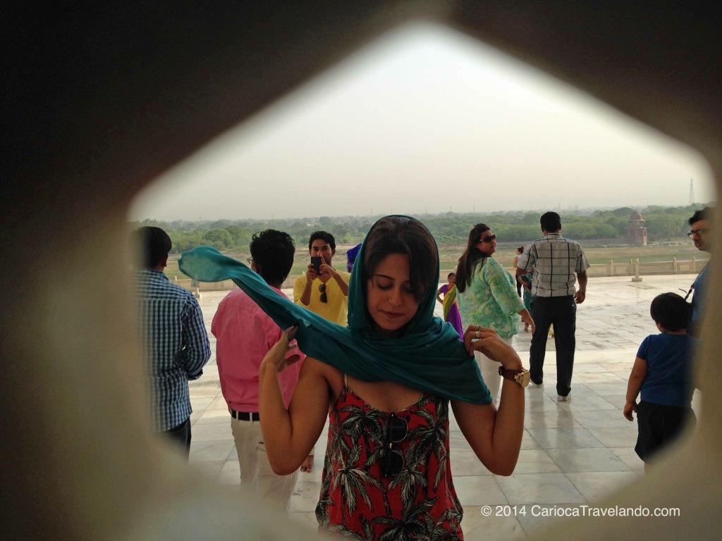 Baixa temporada, verãozão e o Taj Mahal lotado