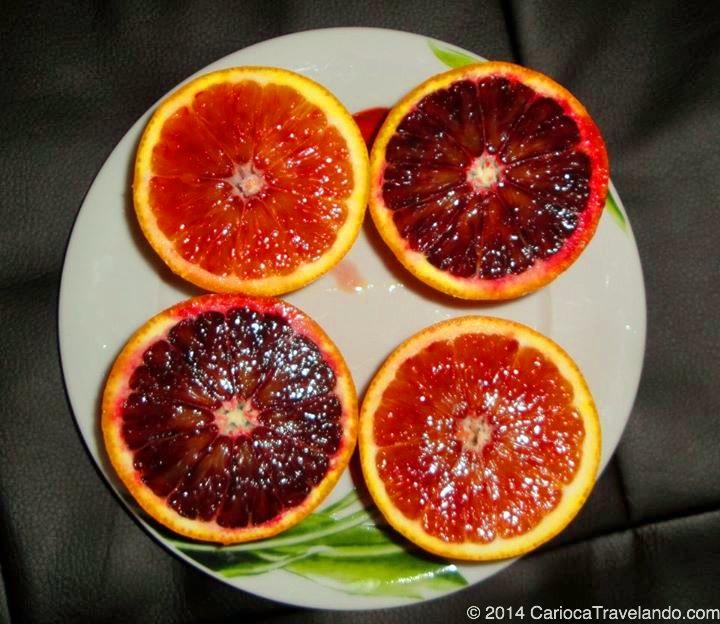 As famosas laranjas vermelhas