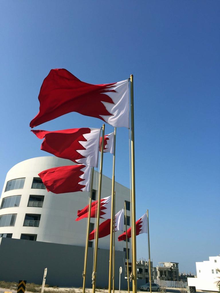 Patriotismo: muitas bandeiras pelas ruas de Bahrain