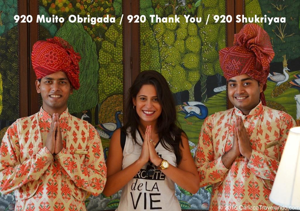 MUITO OBRIGADA / THANK YOU / MUCHAS GRACIAS / SHUKRIYAA