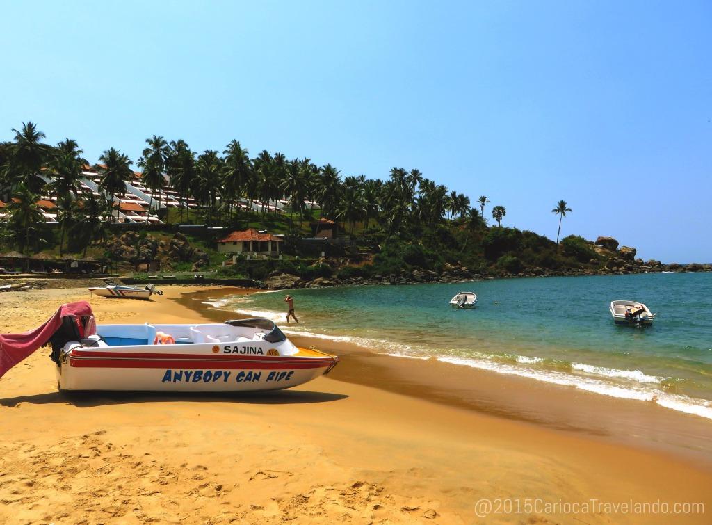 E esse foi o cenário do primeiro dia em Kerala