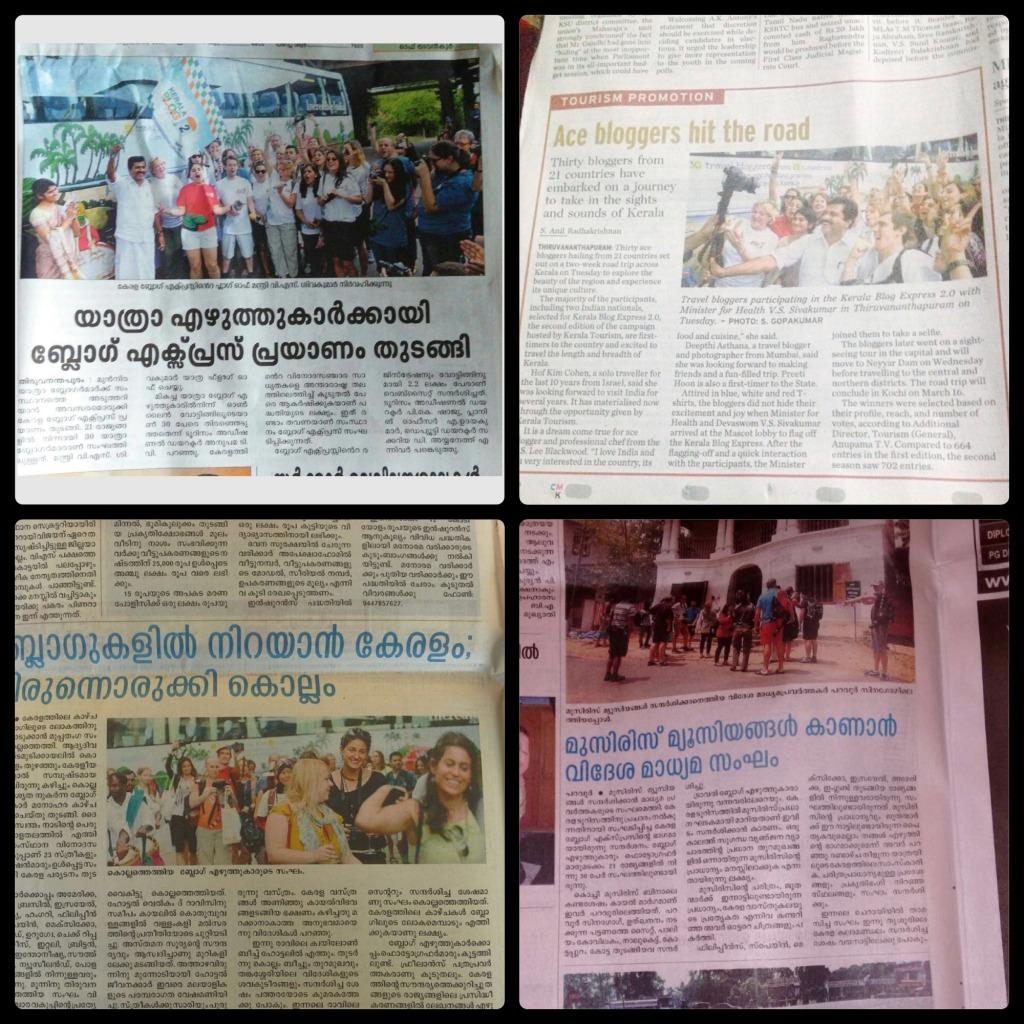 Matérias em diversos jornais da região