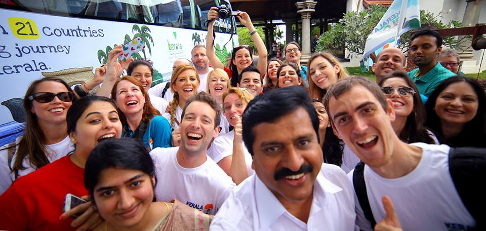 Selfie com o Ministro da Saúde de Kerala