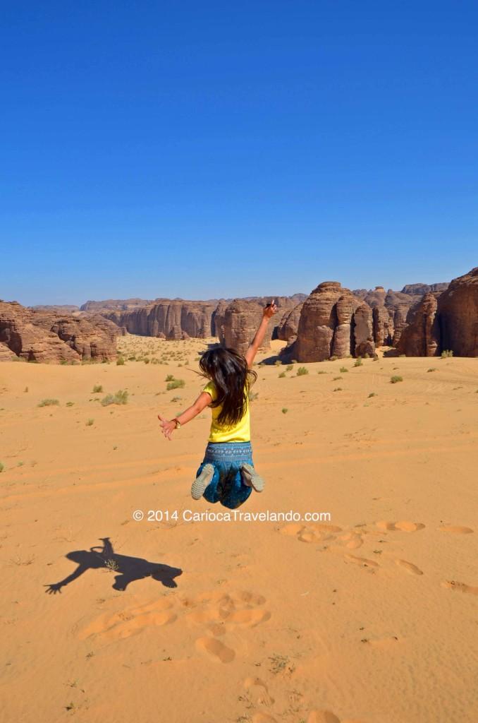 Nas montanhas dançantes de Al Ragassat, próximo à Medina, na Arábia Saudita
