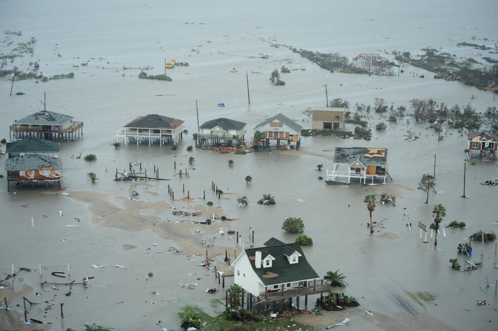 A destruição em Galveston - de doer o coração...