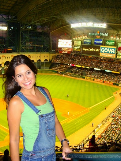 Meu primeiro jogo de Baseball - Go Astros!