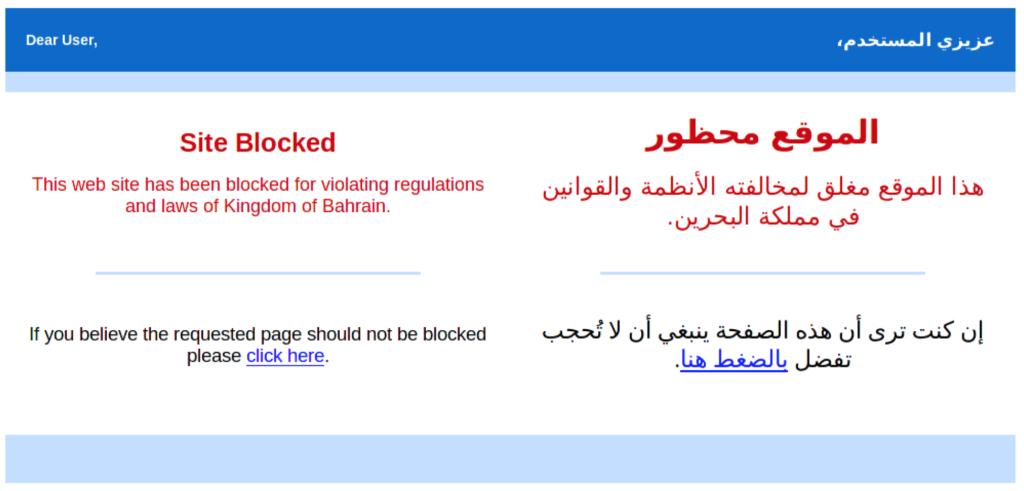 Nananinanão... bloqueio em Bahrain