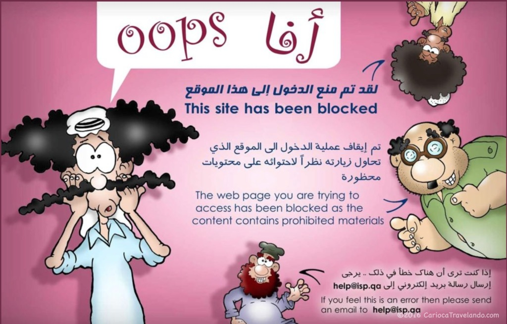 OOPS! Bloqueio no Qatar