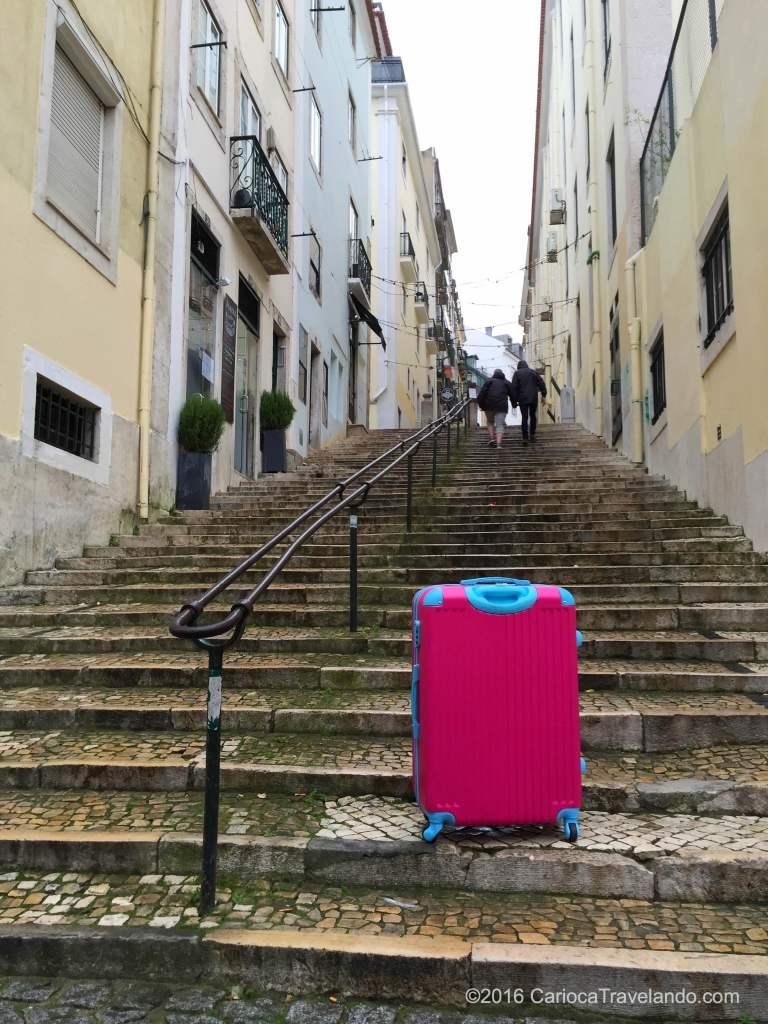 Olha a rosinha dando umas voltinhas pelas ruas de Lisboa