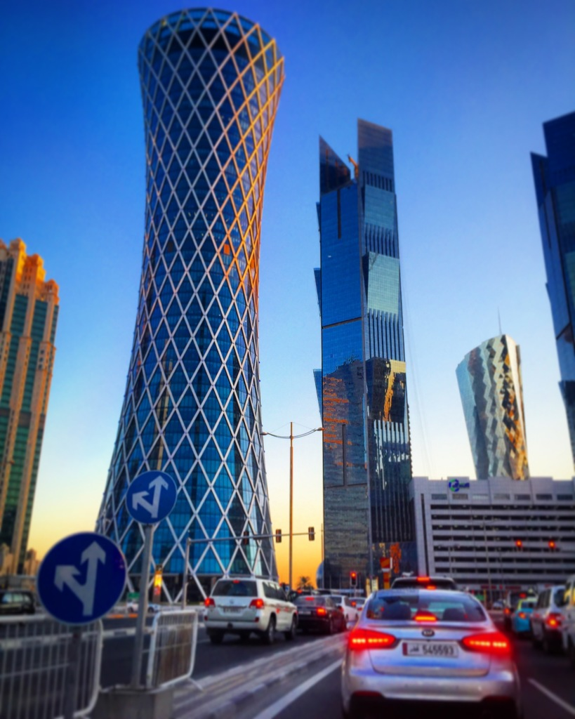 Os arranha-céus da capital do Qatar, Doha