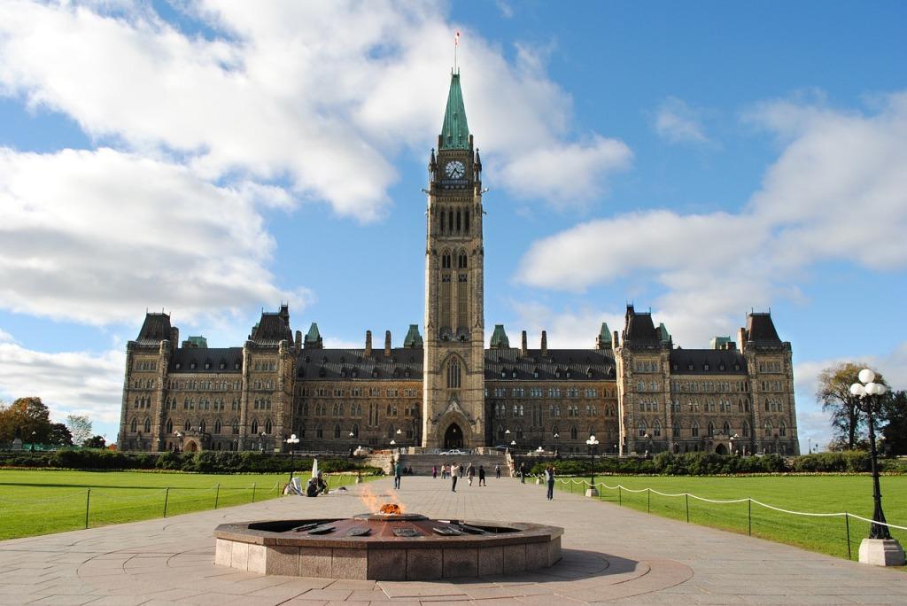 Sede do Parlamento em Ottawa, Canadá